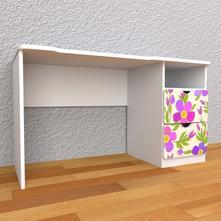 Detský písací stôl so zásuvkami pravý - fialky,