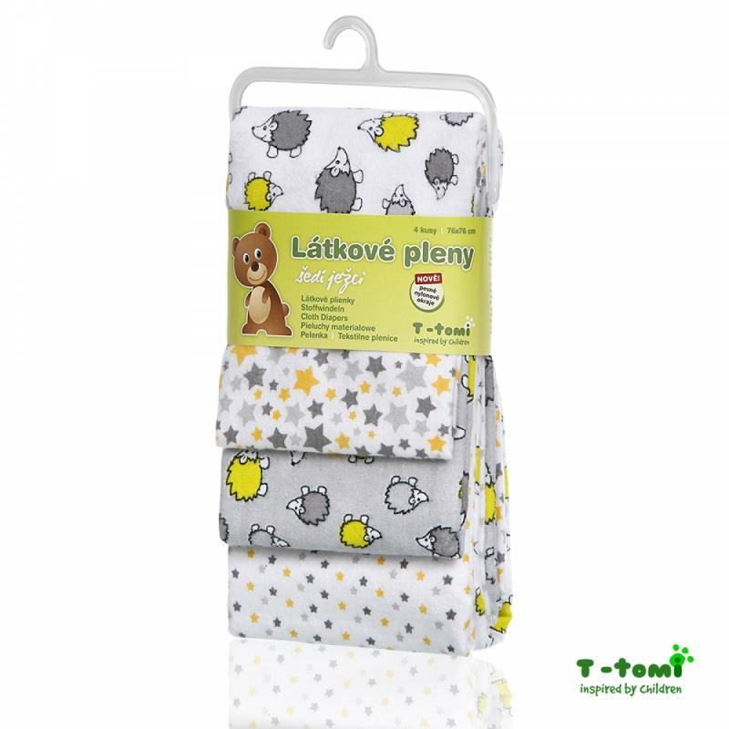 d235804836dd2 Bavlnené plienky s flanelovou úpravou šedí ježkovi, t-tomi - 12,30 € od  predávajúcej rinuska   Detský bazár   ModryKonik.sk