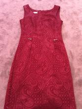 Bordové elegantné šaty, 36