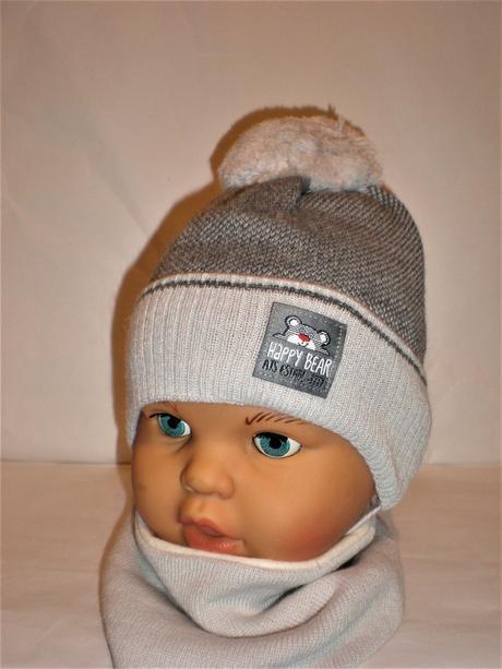 a0a3638cf Zimná čiapka s nákrčníkom pre bábätko, 50 / 56 - 11,50 € od predávajúcej  topciapocky | Detský bazár | ModryKonik.sk