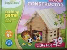Stavebnica drevená constructor malá chatka,