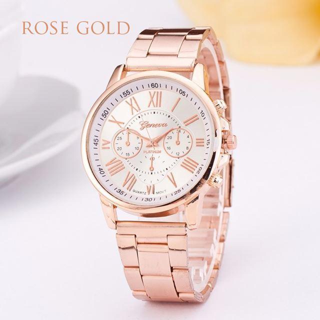 d5c80afb9 Luxusní dámské hodinky geneva ružove zlato, - 9,99 € od predávajúcej ...