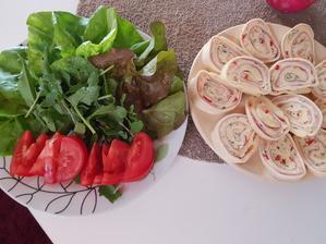 Večera-syrová roláda so zeleninkou
