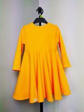 Žlté šaty s kruhovou sukňou, 68 - 140