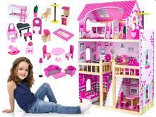 Veľký drevený domček pre bábiky,