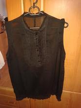 Transparentný čierny top, l