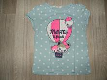 Bodkované tričko, h&m,122