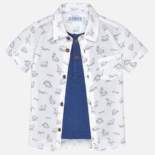 Mayoral chlapčenská košeľa 1160-054 white, mayoral,62 - 92