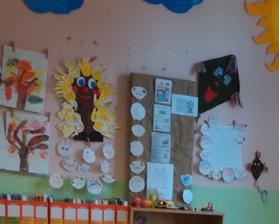 9/2018 - jeseň v škole - práce z hodiny výtvarnej výchovy