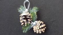 Vianocne ozdoby - sisky na stromcek,