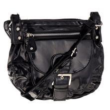 Crossbody dámska kabelka - čierna a lesklá fcaf63f150f