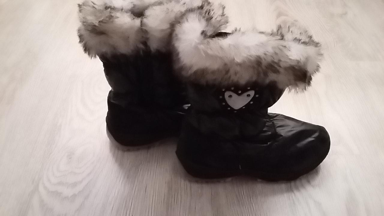 43743a91df Cierne snehule cizmy s kozusinou 35 36