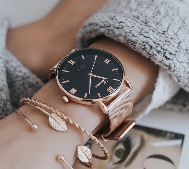 c07ce73be Luxusní dámské hodinky geneva - růžove zlato, - 9,99 € od ...