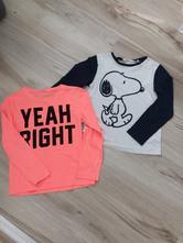 2x tričko, h&m,122