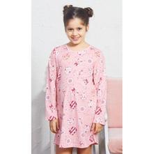 Detská bavlnená nočná košeľa s dlhým rukávom kitty, vienetta kids,98 - 176