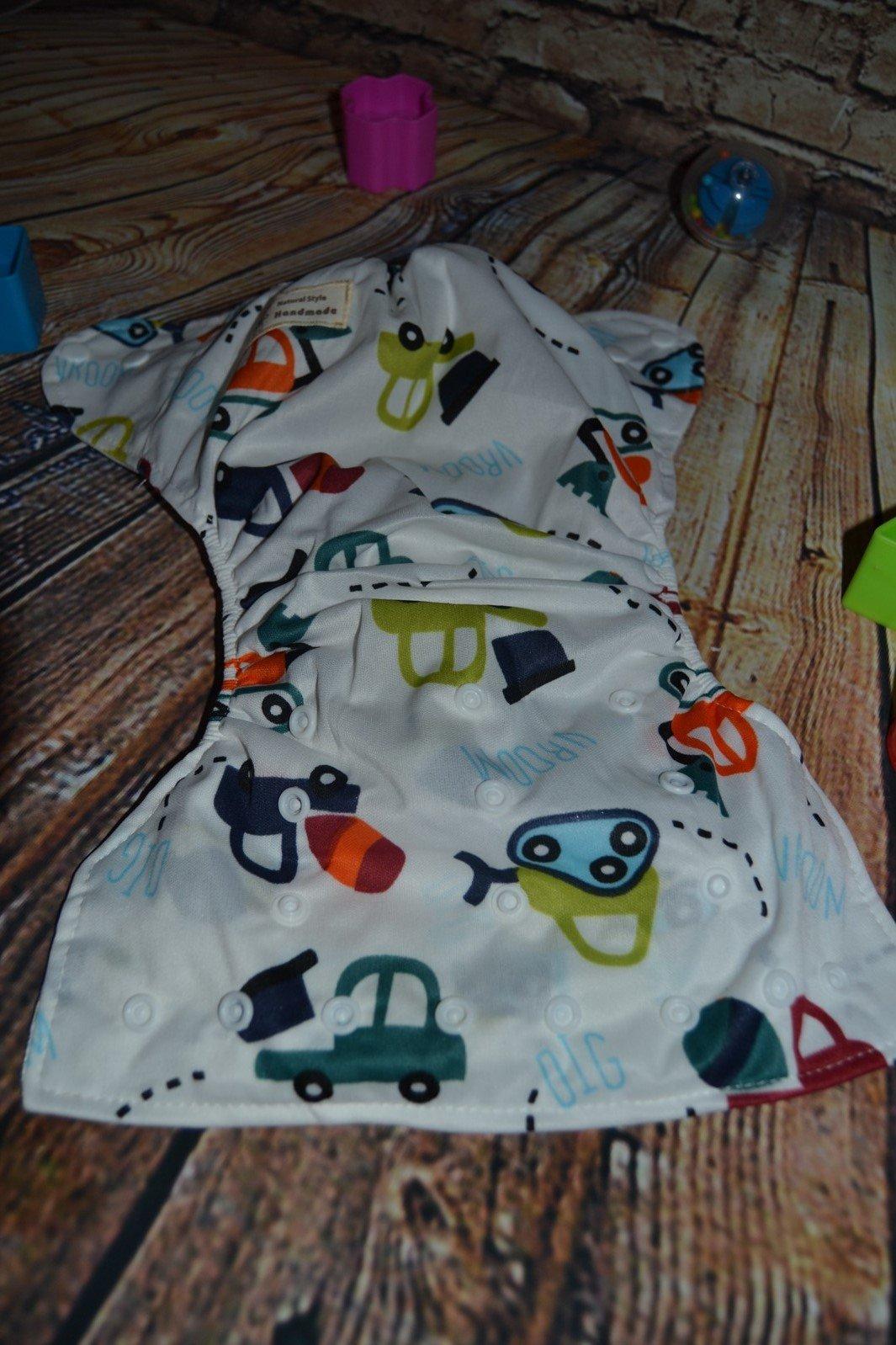 7ebed5fa2f03 Vrchné nohavičky na plienky veselý vzor autíčkové