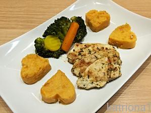 batátovo-bramborová kaše a bylinková kuřecí prsa