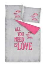 Obliečky all you need is love   140 / 200 cm, 140,200