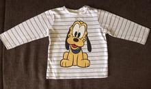 Bavlnené tričko disney cvočky pri krku, h&m,86