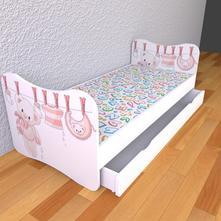 Detská posteľ bez bočníc - medvedík,
