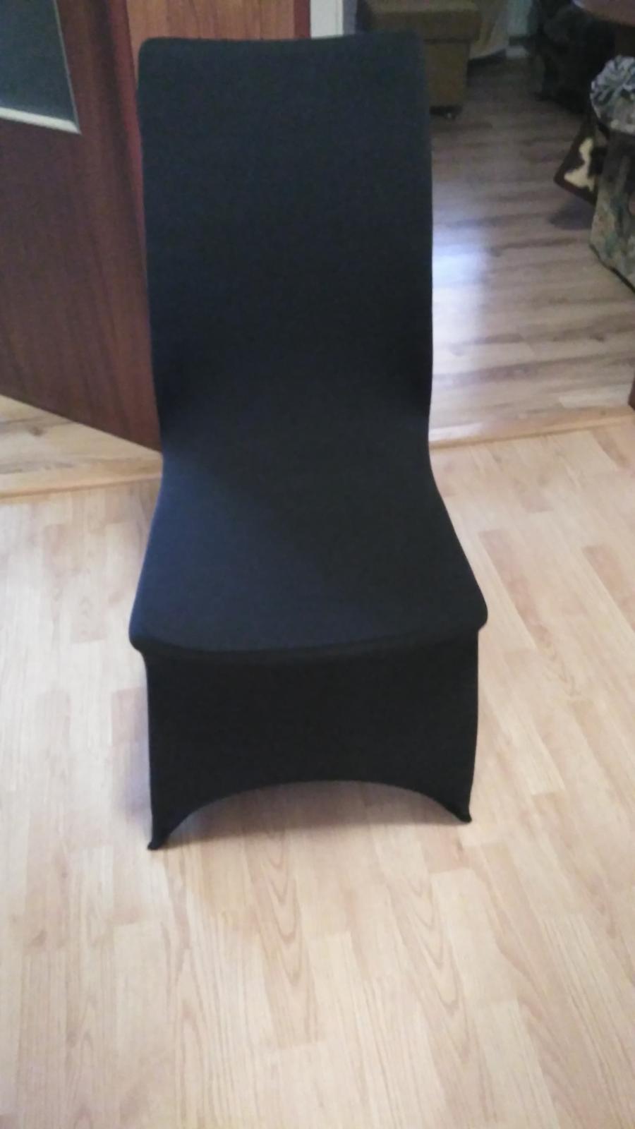 0705fee3b6fd Čierne návleky na stoličky