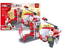Stavebnica hasiči 133 ks,