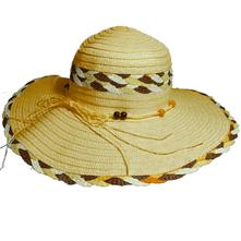 b7887e9d7 Dámsky slamený klobúk s mašľou a korálkami, hnedý, l - xxxl