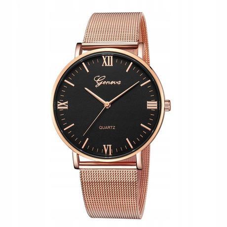 b16bafce253 Luxusní dámské hodinky geneva - růžove zlato