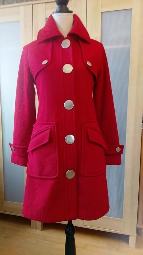 Červený kabát only s výrazným zapínaním c372b53086a