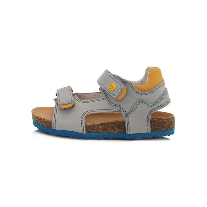 3a9b314ffad4 D.d. step chlapčenské kožené sandále grey