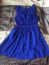 Tmavomodré krátke spoločenské šaty, h&m,m