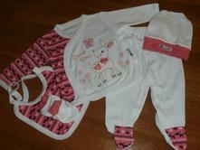 Novorodenecká súprava srnka - sýto ružová veľ 56, 56