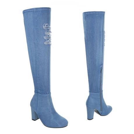 82ebb29df1 riflové čižmy nad kolená jeans ii