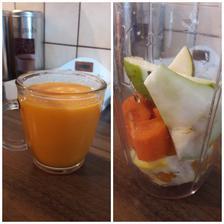 Smoothie na desiatu-hruška,pomaranč,mrkva