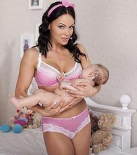 Podprsenka na dojčenie lovely - 70d vystužená, 70,d