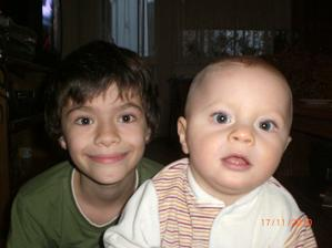 Tu som ja a moj velky brat Marko
