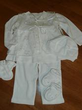 Dievčenské oblečenie  na krst 11  veľ. cca 74     , 74