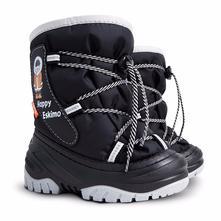 Krásne detské snehule eskimák   čierne 5de7803380c