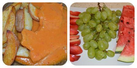 Bravčové kare na srbský spôsob+ovocie