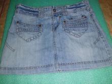 Riflova sukna jeans, amisu,36
