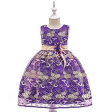 Krásne detské šaty l9030 - fialové, 110 - 146