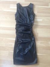 Spoločenské čierne saténové šaty 6b11ceded50