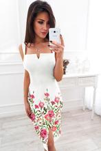 Šaty s kvetinovým vzorom na ramienka, l / m / s / xl / xs