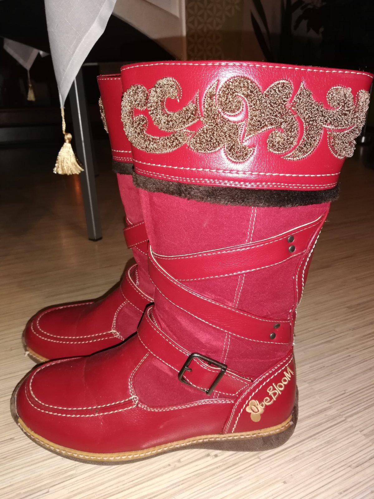 d992fff542 Červené zimné čižmy