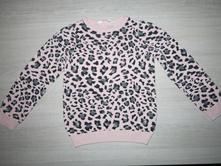 Leo pulovrík ružový 110/116, h&m,110