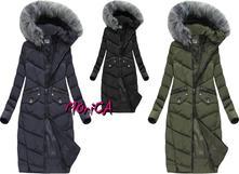 Dlhá zimná bunda s kožušinou dce0f24285a