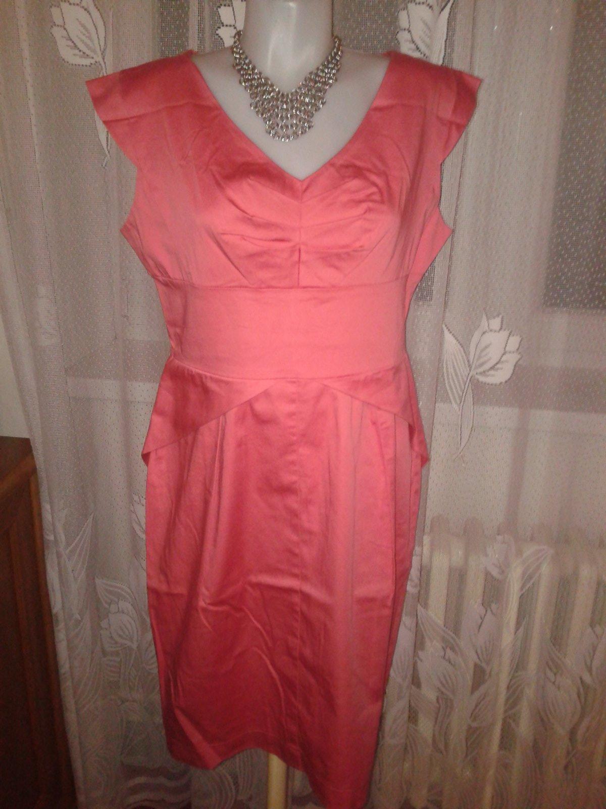 4ae4d80540b0 Lososové púzdrové šaty orsay