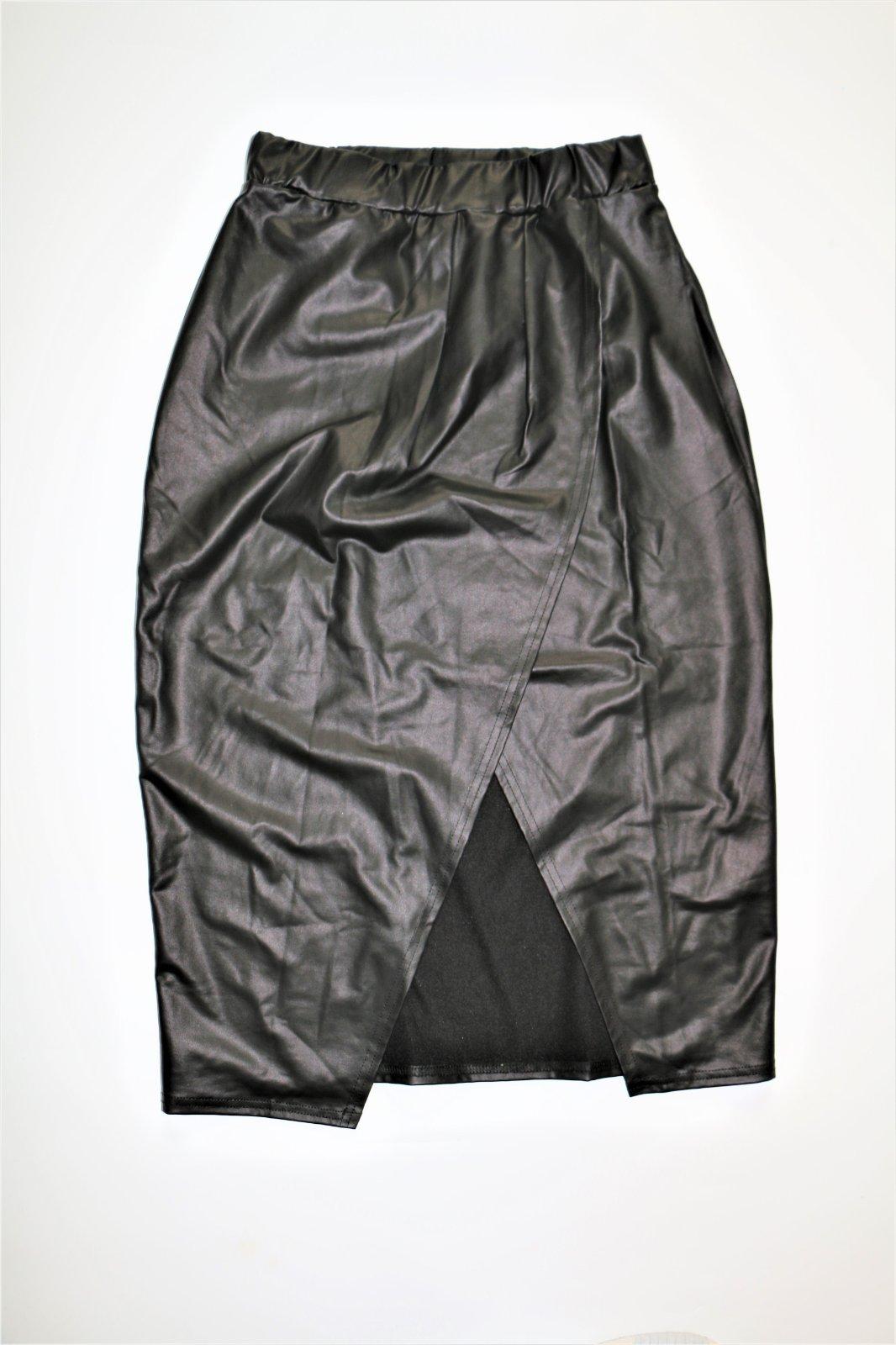 66a1e984df7f Zavinovacia koženková sukňa