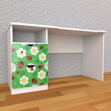Detský písací stôl so zásuvkami ľavý - lienky,