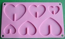 silikonová forma na čokoládové srdcia,